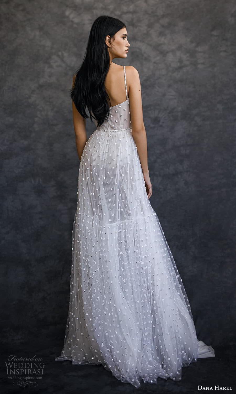 dana harel spring 2022 bridal sleeveless straps semi sweetheart neckline fully embellished a line wedding dress sweep train (4) bv