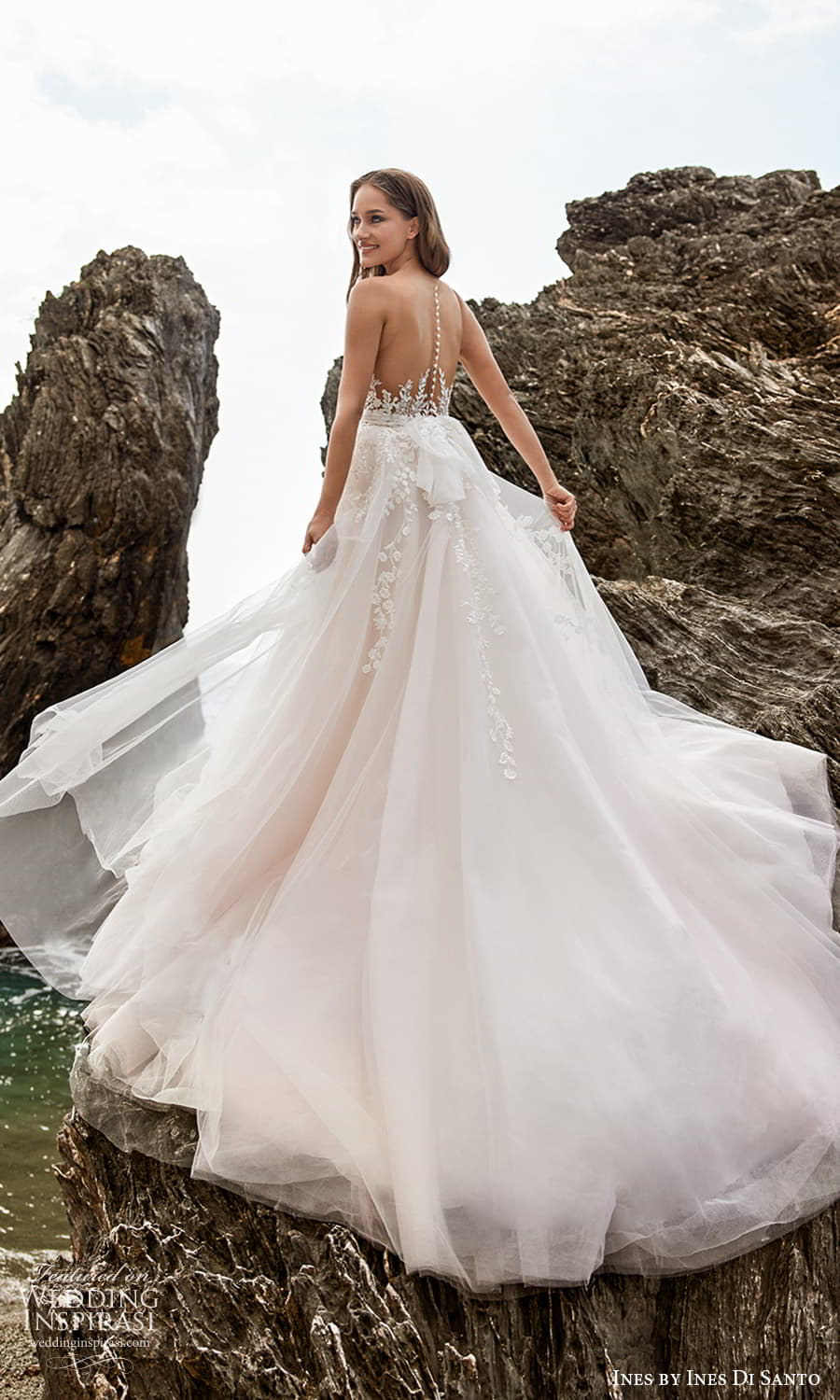 ines ines di santo spring 2022 bridal sleeveless sheer straps sweetheart neckline embellished bodice a line ball gown wedding drses sheer back (14) mv