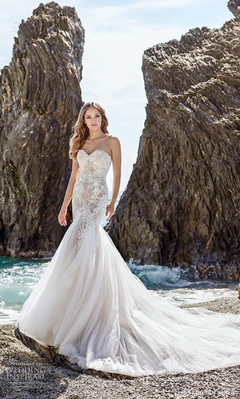 ines ines di santo spring 2022 bridal strapless sweetheart neckline embellished bodice fit flare mermaid wedding drss chapel train (6) mv