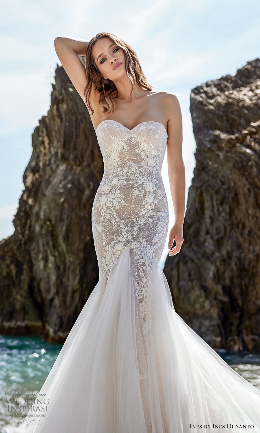 ines ines di santo spring 2022 bridal strapless sweetheart neckline embellished bodice fit flare mermaid wedding drss chapel train (6) zv
