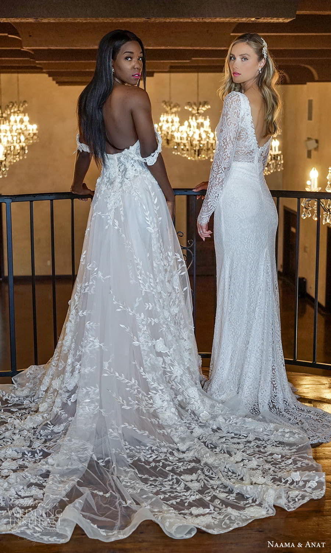 naama anat 2022 bridal off shoulder straps sweetheart neckline fully embellished a line ball gown wedding dress chapel train (6) bv