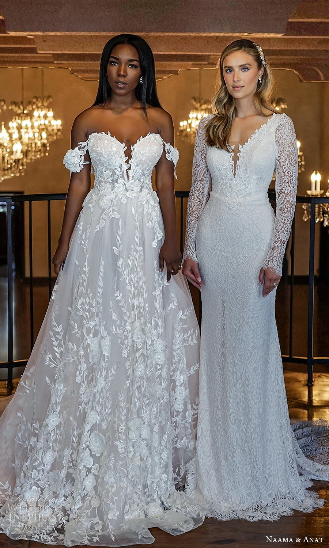 naama anat 2022 bridal off shoulder straps sweetheart neckline fully embellished a line ball gown wedding dress chapel train (6) mv