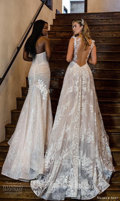 naama anat 2022 bridal strapless sweetheart neckline fully embellished fit flare wedding dress chapel train (7) bv