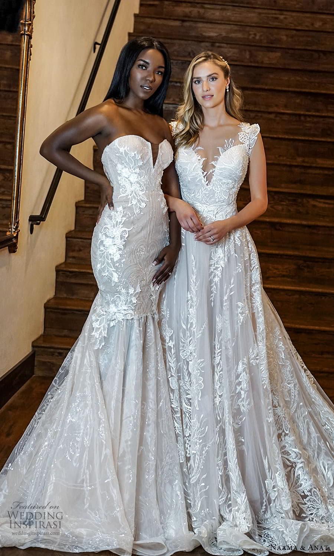 naama anat 2022 bridal strapless sweetheart neckline fully embellished fit flare wedding dress chapel train (7) mv