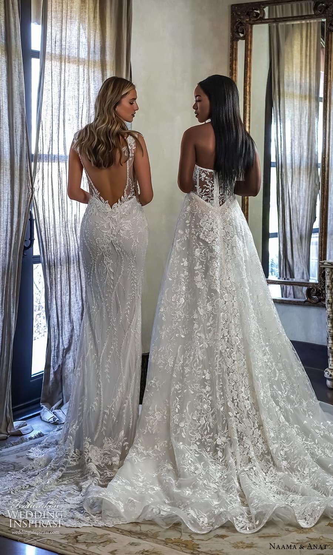 naama anat 2022 bridal strapless sweetheart neckline fully embellished sheath a line wedding dress chapel train (4) bv