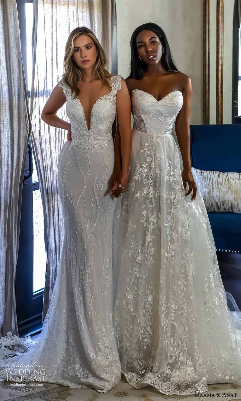 naama anat 2022 bridal strapless sweetheart neckline fully embellished sheath a line wedding dress chapel train (4) mv