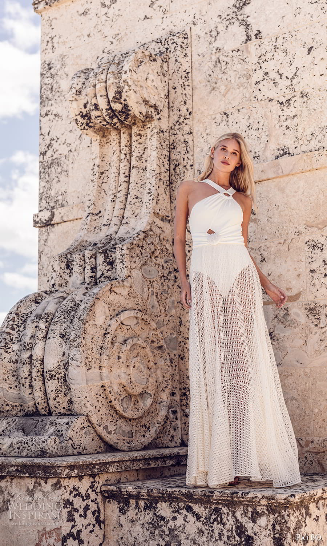patbo spring 2022 bridal sleeveless halter neckline sheer a line wedding dress (4) fv