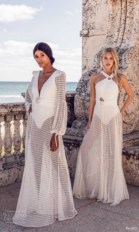 patbo spring 2022 bridal sleeveless halter neckline sheer a line wedding dress (4) mv