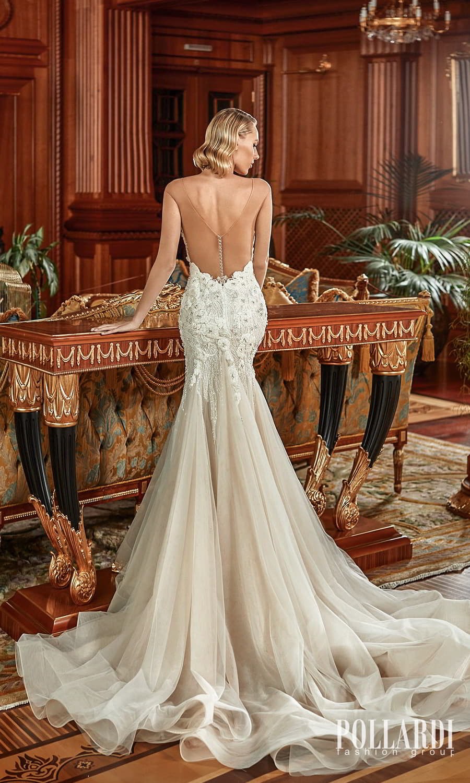 pollardi 2022 your triumph bridal cap sleeves off shoulder neckline heavily embellished fit flare mermaid wedding dress chapel train low back (enchantment) bv