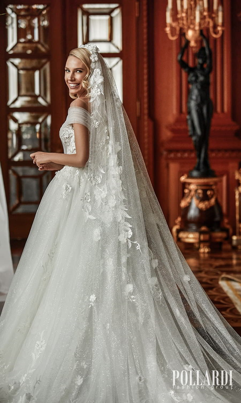 pollardi 2022 your triumph bridal off shoulder strap plunging v neckline embellished bodice a line ball gown wedding dress chapel train (glee) bv