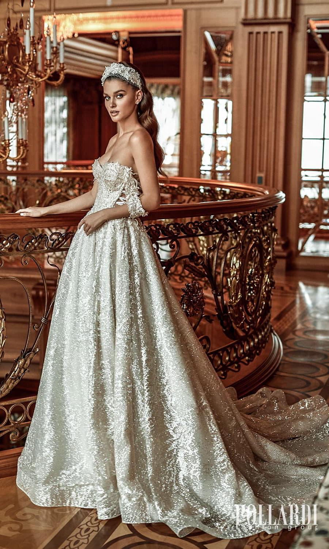 pollardi 2022 your triumph bridal off shoulder swag straps sweetheart neckline fully embellished a line ball gown wedding dress chapel train (mastery) sv