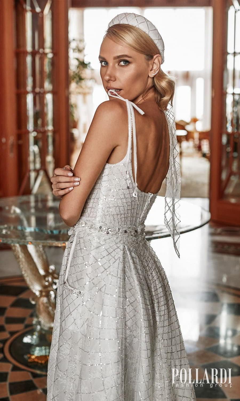 pollardi 2022 your triumph bridal sleeveless straps scoop neckline fully embellished a line ball gown wedding dress chapel train pocket (effect) zbv