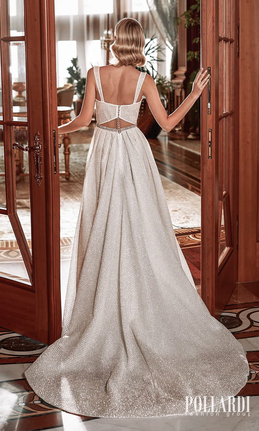 pollardi 2022 your triumph bridal sleeveless straps sweetheart neckline fully embellished a line ball gown wedding dress chapel train (perfection) bv