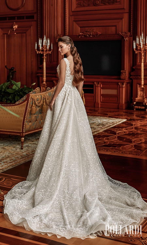pollardi 2022 your triumph bridal sleeveless straps v neckline fully embellished a line ball gown wedding dress chapel train (charm) bv