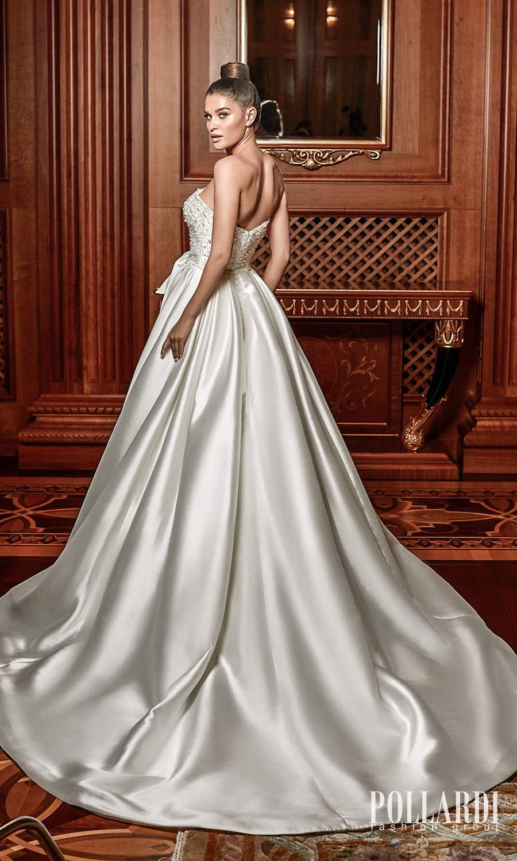 pollardi 2022 your triumph bridal strapless straight across neckline embellished bodice a line ball gown wedding dress chapel train (admiration) bv