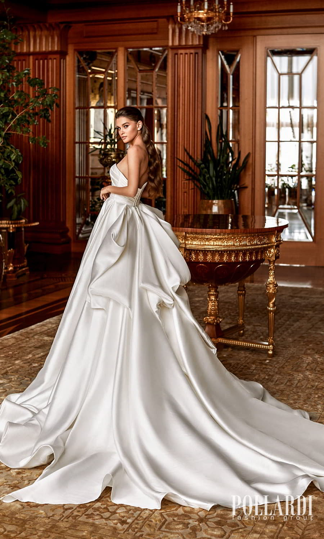 pollardi 2022 your triumph bridal strapless sweetheart necklnie clean minimalist a line ball gown weddingdress chapel train (dignity) bv