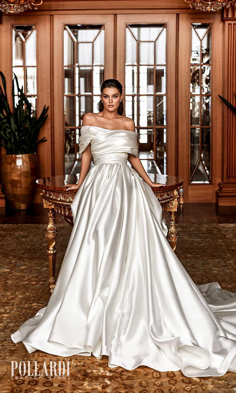 pollardi 2022 your triumph bridal strapless sweetheart necklnie clean minimalist a line ball gown weddingdress chapel train ruched shrug (dignity) mv