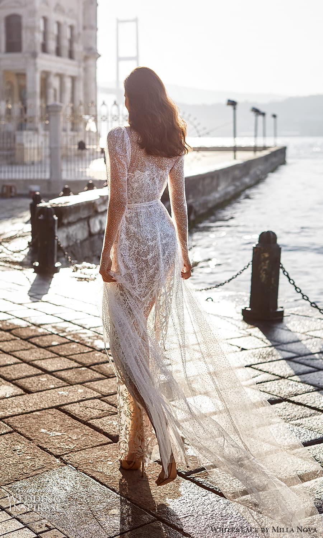 white lace milla nova 2022 bridal sheer long sleeves sweetheart neckline fully embellished sheath wedding dress (7) bv