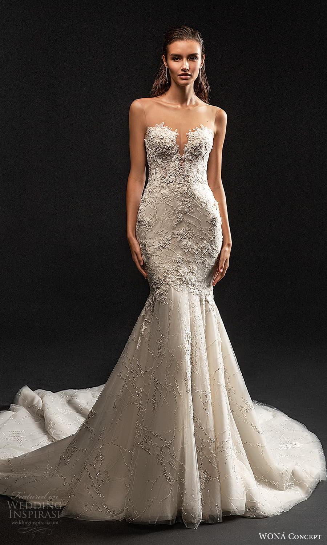 wona concept 2022 bridal sleeveless illusion straps sweetheart neckline fully embellished sheath wedding dress chapel train (9) mv