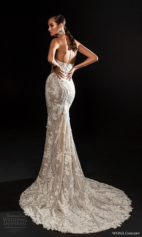 wona concept 2022 bridal strapless sweetheart neckline fully embellished sheath wedding dress chapel train (13) bv