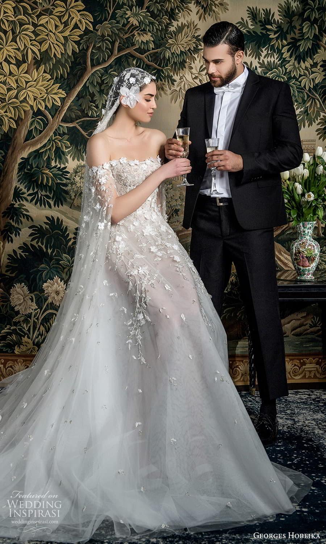 georges hobeika spring 2022 bridal off shoulder split long sleeves semi sweetheart neckline fully embellished a line ball gown wedding dress chapel train (7) mv