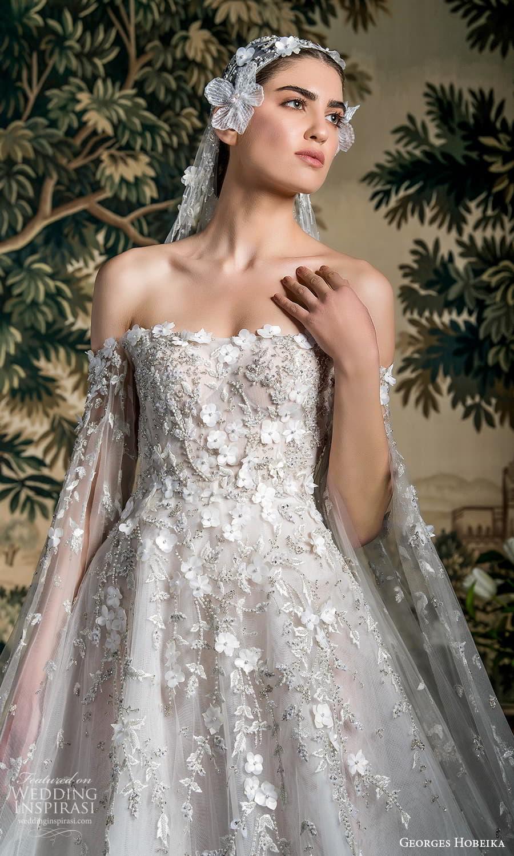 georges hobeika spring 2022 bridal off shoulder split long sleeves semi sweetheart neckline fully embellished a line ball gown wedding dress chapel train (7) zv