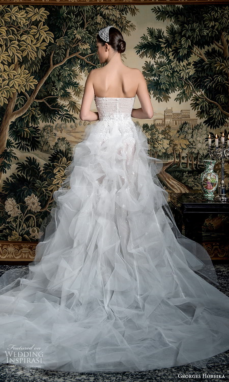 georges hobeika spring 2022 bridal strapless straight across neckline fully embellished a line wedding dress ruffle skirt (13) bv