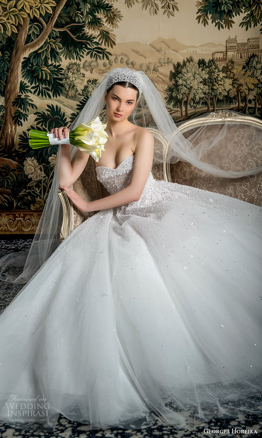 georges hobeika spring 2022 bridal strapless sweetheart fully embellished a line ball gown wedding dress (12) mv