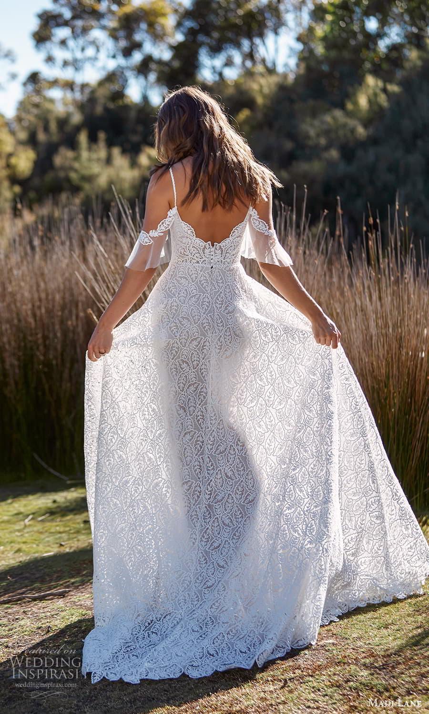 madi lane fall 2021 bridal cold shoulder flutter sleeve straps plunging sweetheart neckline fully embellished a line wedding dress chapel train (13) bv