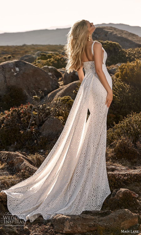 madi lane fall 2021 bridal sleeveless straps scoop neckline embellished sheath wedding dress side cutout sweep train (20) bv