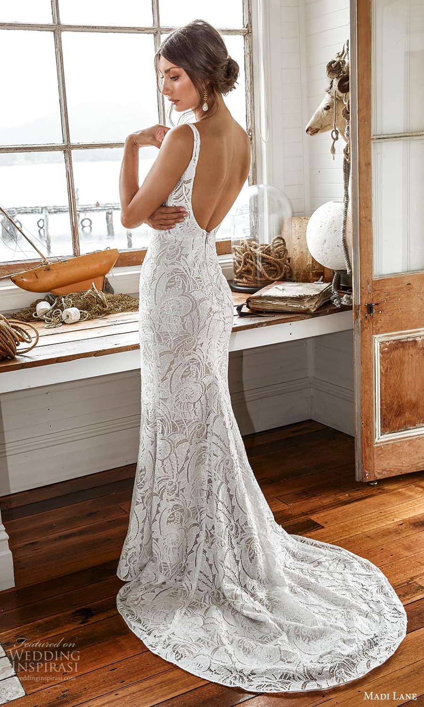 madi lane fall 2021 bridal sleeveless straps scoop neckline fully embellished sheath wedding dress chapel train scoop back (2) bv