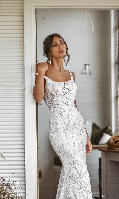 madi lane fall 2021 bridal sleeveless straps scoop neckline fully embellished sheath wedding dress chapel train scoop back (2) zv