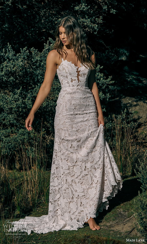 madi lane fall 2021 bridal sleeveless straps sweetheart neckline fully embellished sheath wedding dress (16) mv