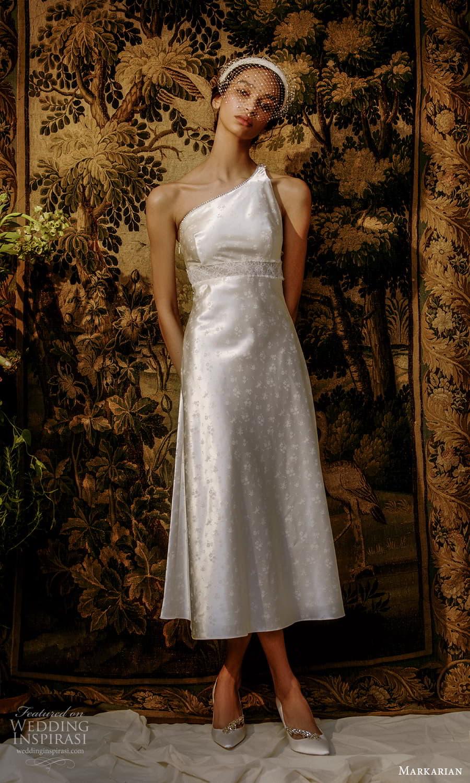 markarian spring 2022 bridal sleeveless one shoulder straps asymmetric neckline short wedding dress (16) mv