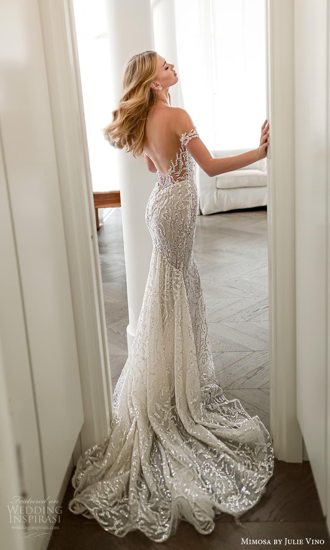 mimosa julie vino 2021 bridal off shoulder straps sweetheart neckline fully embellished sheath wedding dress chapel train (7) bv