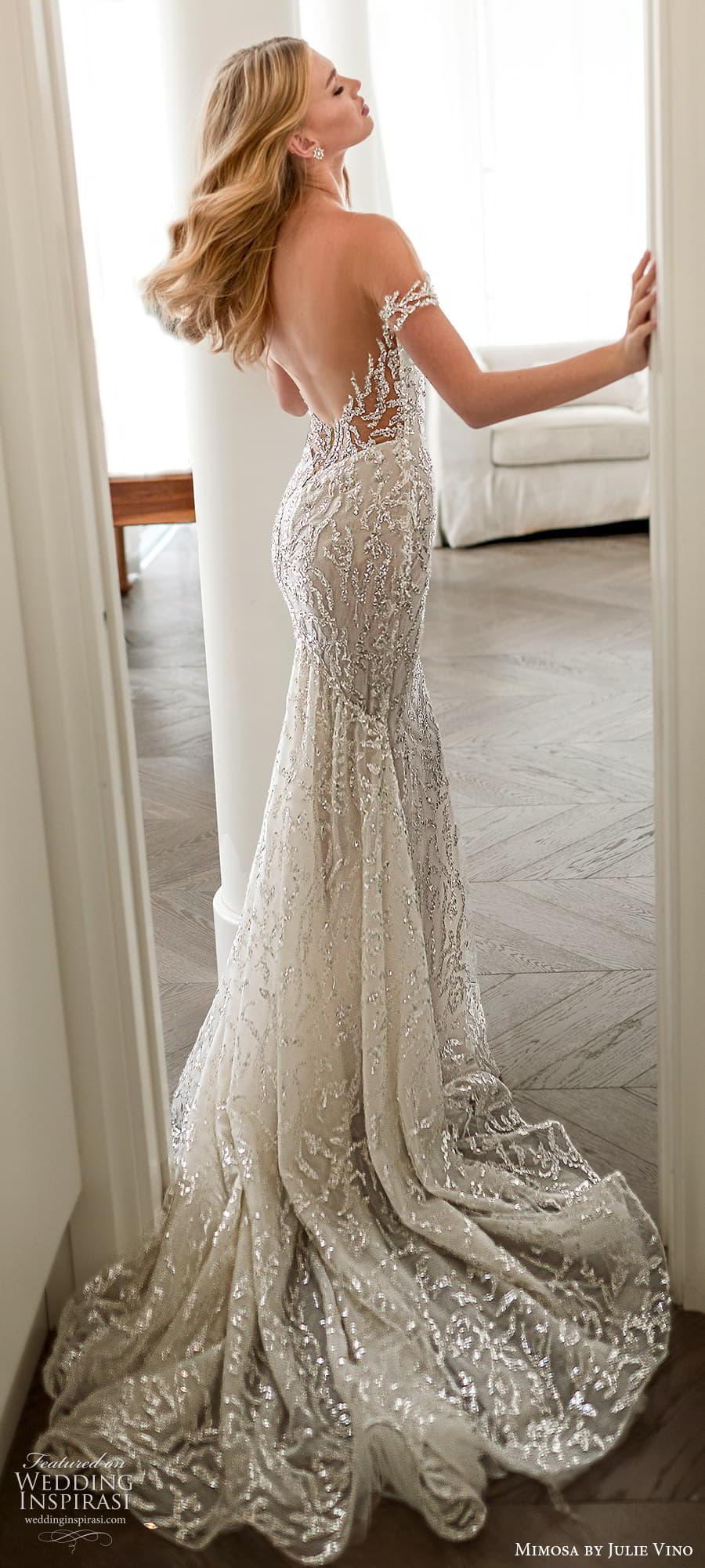 mimosa julie vino 2021 bridal off shoulder straps sweetheart neckline fully embellished sheath wedding dress chapel train (7) lbv