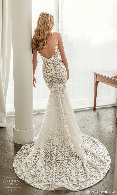 mimosa julie vino 2021 bridal sleeveless straps v neckline fully embellished sheath wedding dress chapel train (3) bv