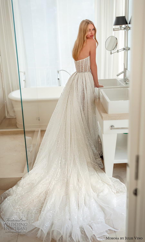mimosa julie vino 2021 bridal strapless semi sweetheart neckline fully embellished a line ball gown wedding dress chapel train (5) bv