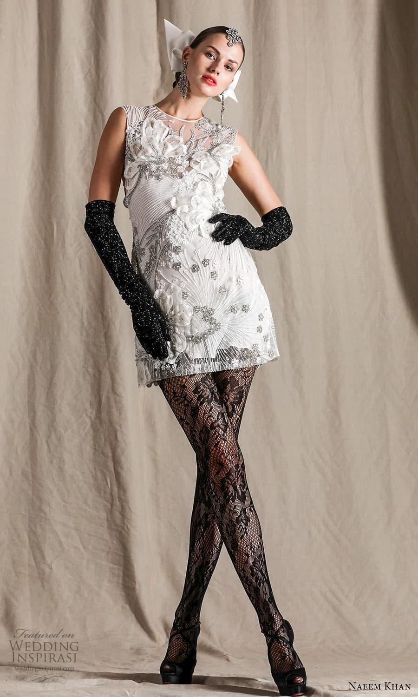 naeem khan spring 2022 bridal sleeveless jewel neckline short shift wedding dress (18) mv