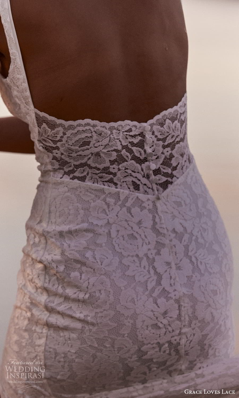grace loves lace 2021 capsule bridal sleeveless straps v neckline fully embellished lace sheath wedding dress chapel train lace back (1) zbv