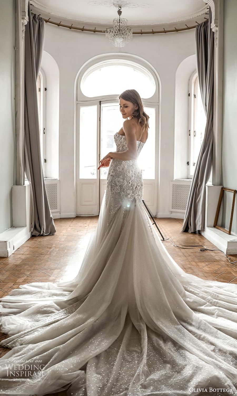 olivia bottega 2022 capsule bridal detached puff sleeves strapless sweetheart neckline embellished fit flare wedding dress chapel train (3) bv