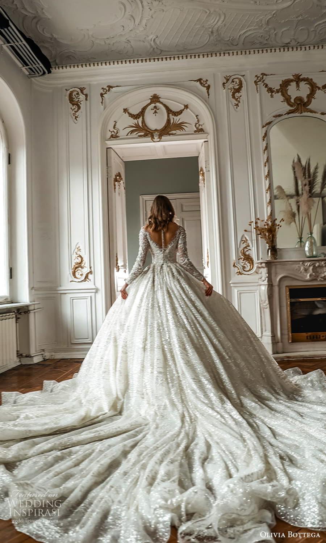 olivia bottega 2022 capsule bridal long sleeve off shoulder fully embellished a line ball gown wedding dress cathedral train (4) bv