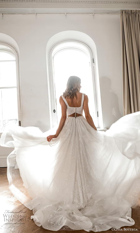 olivia bottega 2022 capsule bridal sleeveless straps sweetheart neckline fully embellished a line ball gown wedding dress chapel train (8) bv