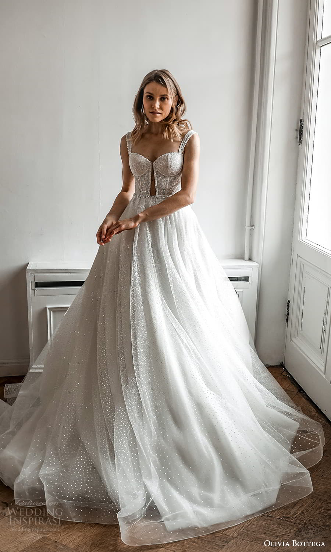 olivia bottega 2022 capsule bridal sleeveless straps sweetheart neckline fully embellished a line ball gown wedding dress chapel train (8) fv