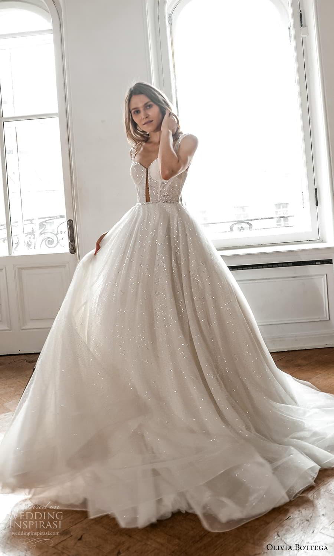 olivia bottega 2022 capsule bridal sleeveless straps sweetheart neckline fully embellished a line ball gown wedding dress chapel train (8) mv