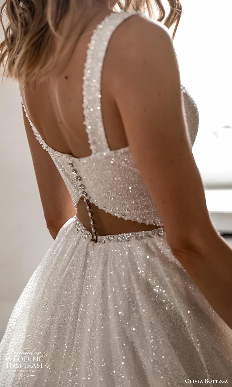 olivia bottega 2022 capsule bridal sleeveless straps sweetheart neckline fully embellished a line ball gown wedding dress chapel train (8) zbv