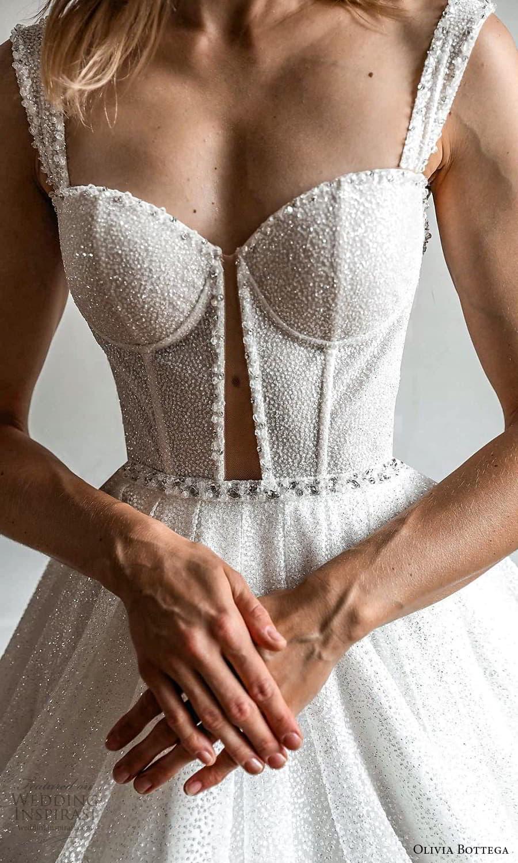 olivia bottega 2022 capsule bridal sleeveless straps sweetheart neckline fully embellished a line ball gown wedding dress chapel train (8) zv