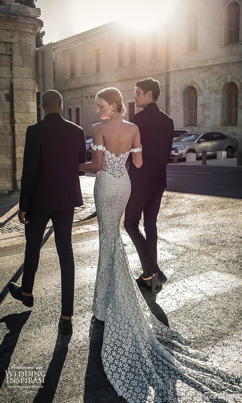 pnina tornai 2022 love bridal off shoulder straps sweetheart neckline fully embellished lace sheath wedding dress chapel train (18) bv