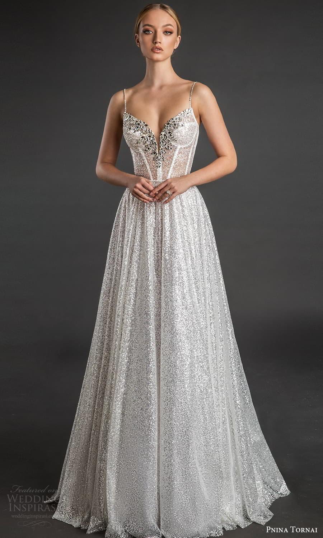 pnina tornai 2022 love bridal sleeveless straps sweetheart neckline embellished bodice a line edding dress sweep train (20) mv