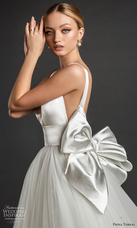 pnina tornai 2022 love bridal sleeveless straps v neckline clean minimalist a line ball gown wedding dress chapel train (19) zsv